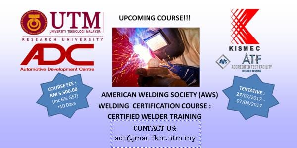 AMERICAN WELDING SOCIETY (AWS) WELDING CERTIFICATION COURSE