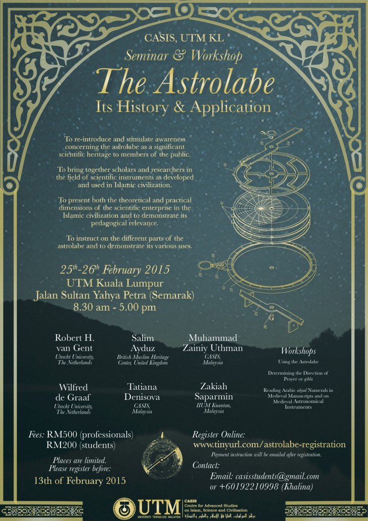 THE ASTROLABE : ITS HISTORY AND APPLICATION