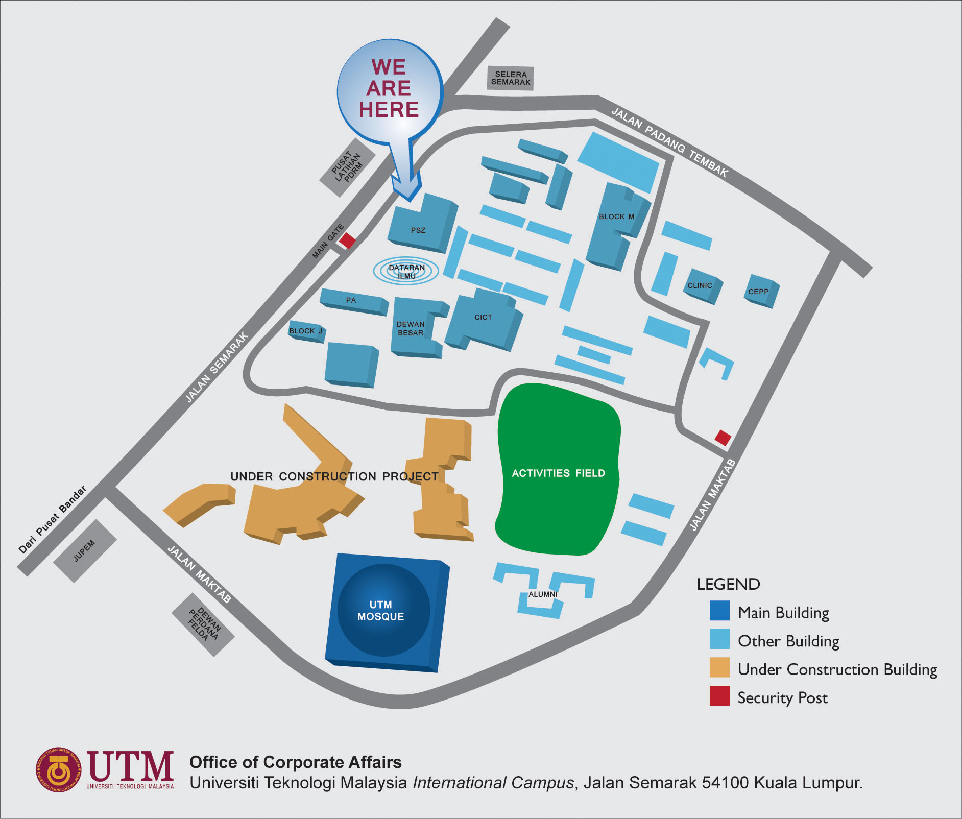 Campus Map Utm International