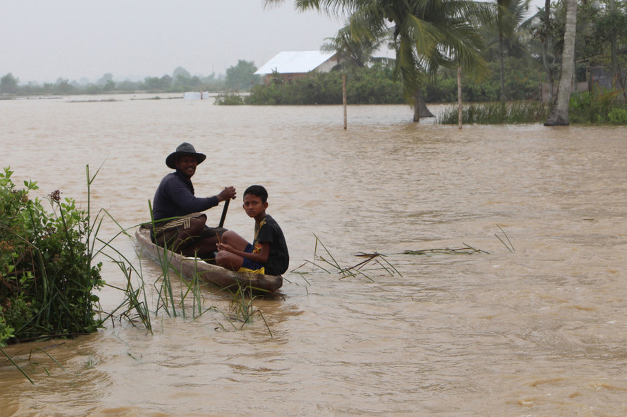 Parts of Aceh Completely Submerged Amid Severe Floods