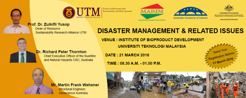 TALK ON DISASTER MANAGEMENT AND RELATED ISSUES