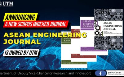 Congratulations to UTM on its success in acquiring the rights to AEJ (ASEAN Engineering Journal)