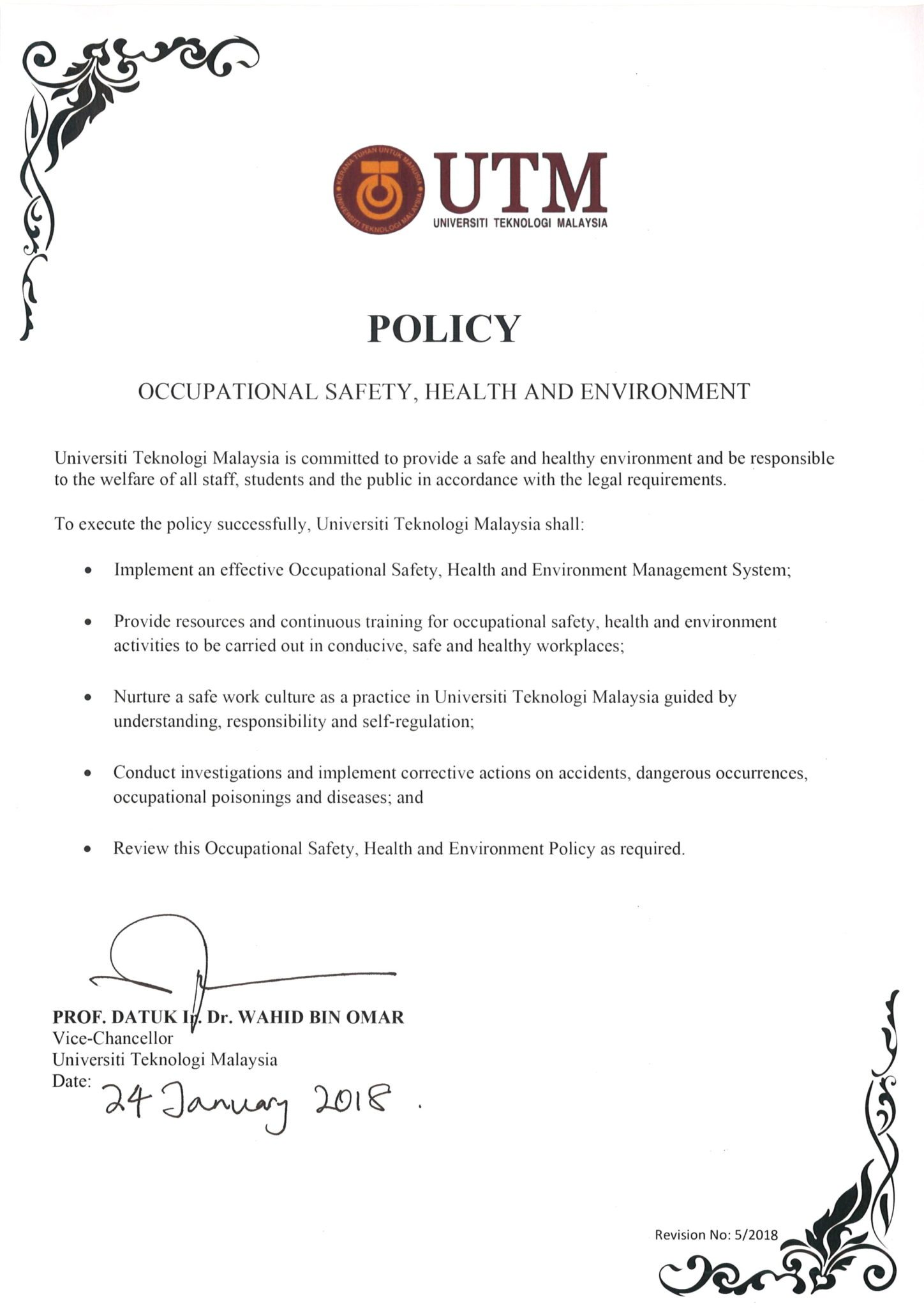 OCCUPATIONAL SAFETY, HEALTH AND ENVIRONMENT UNIT (OSHE ...