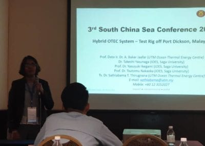 Dr. Sathiabama at the 3rd South China Sea Conference 2019 (SCS2019)
