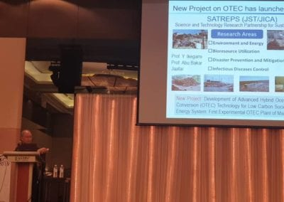 Prof. Masayuki Kamimoto introduced the OTEC SATREP project during his plenary lecture at the South China Sea Conference 2019 (SCS2019)
