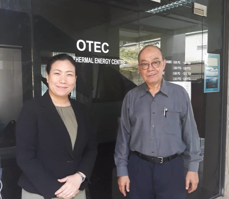 3 October 2019 : First Meeting with SATREPS-Ocean Thermal Energy Conversion (OTEC) JICA Project Coordinator – Ms. Kimiko Masuda