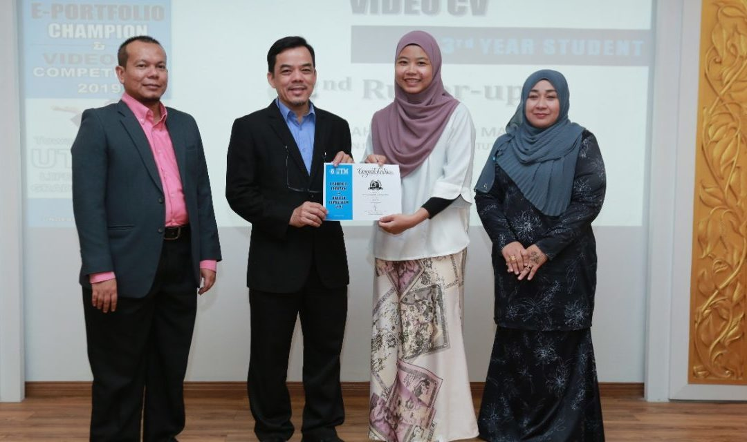 """MJIIT STUDENTS SECURED SEVERAL AWARDS IN """"E-PORTFOLIO AND VIDEO CV COMPETITION 2019"""" ORGANIZED BY OFFICE OF UNDERGRADUATE STUDIES, UTM JOHOR BAHRU"""
