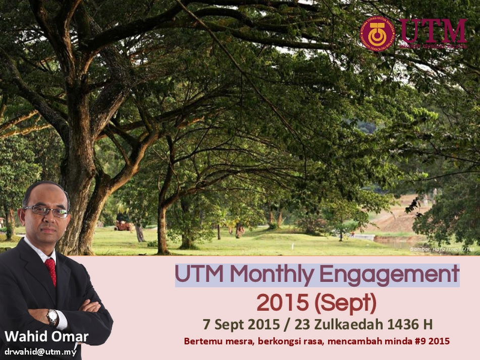 UTM MONTHLY ENGAGEMENT (SEPTEMBER) 2015
