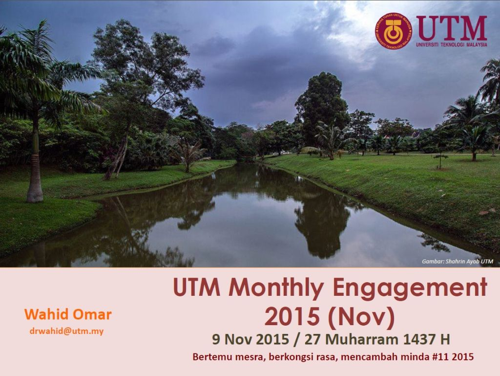 UTM MONTHLY ENGAGEMENT (NOVEMBER) 2015