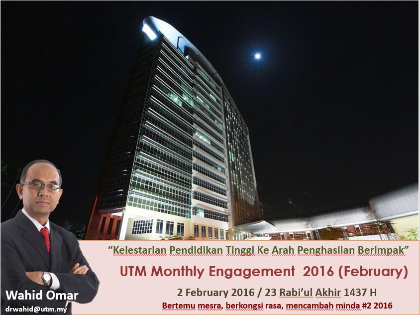 UTM MONTHLY ENGAGEMENT FEBRUARY 2016