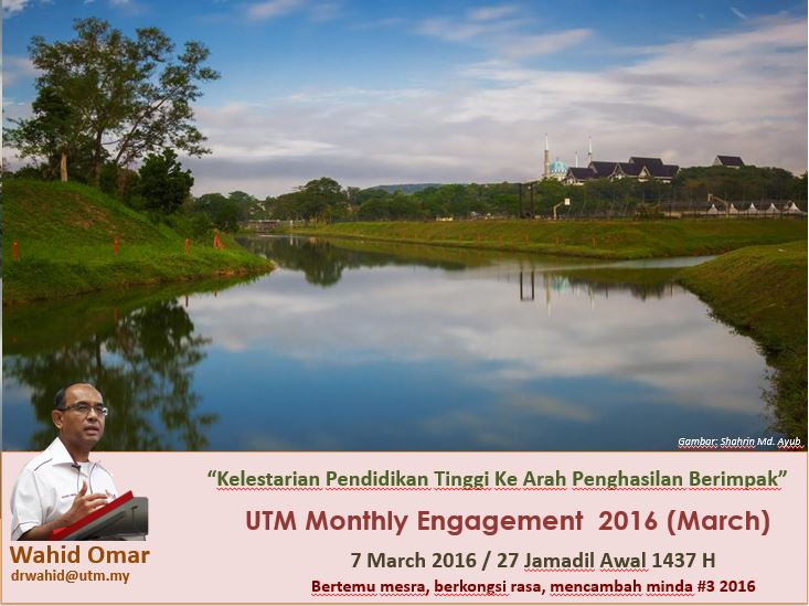 UTM MONTHLY ENGAGEMENT MARCH 2016
