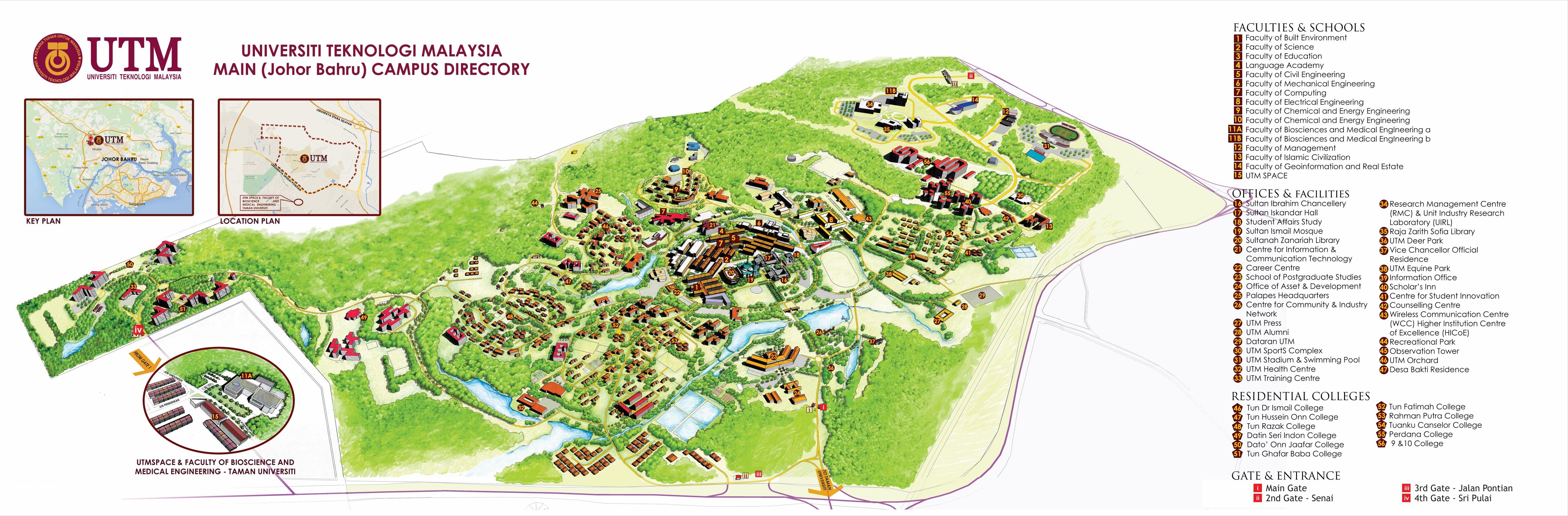 Utm Campus Map Campus Map | UTM International